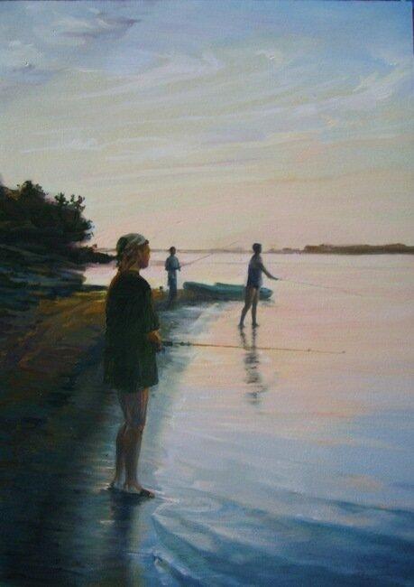 Полубояринова Анна. На рыбалке