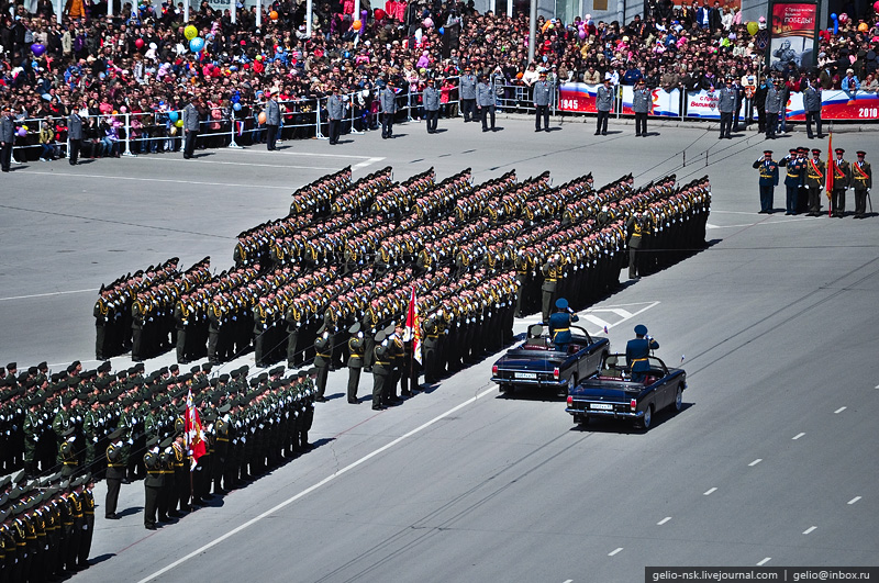 Парад победы в иркутске 2013 - репетиция