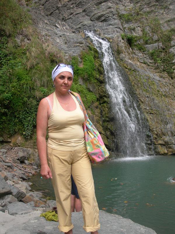 У водопада, photo foto fotki history россия адлер сочи кавказ кавказские горы пейзаж фото фотки апарышев