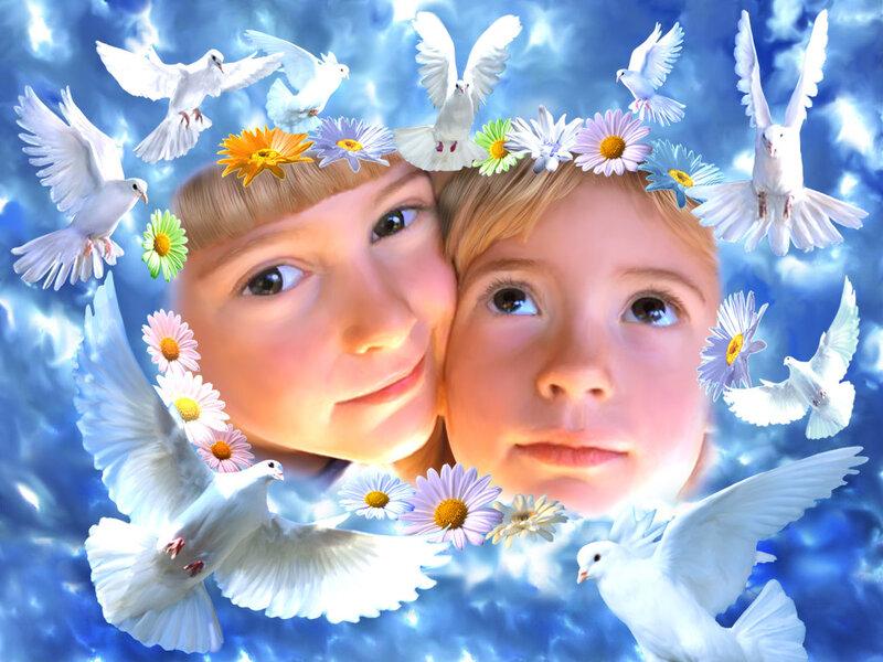 """Комментарии (стр. 1) - Схема вышивки  """"Дети и голуби """" - Схемы автора  """"Melisenta """" - Вышивка крестом."""