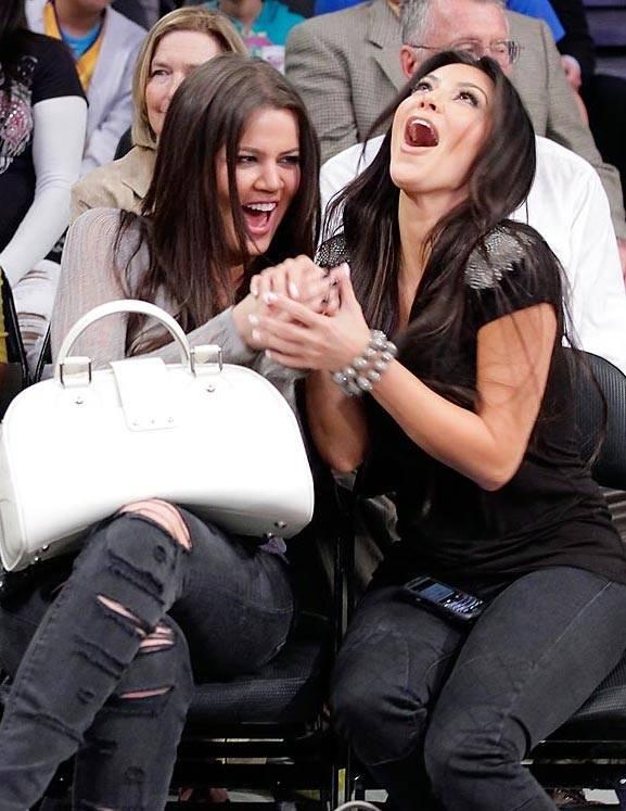 Звезды на матчах НБА / celebrity on nba games / Хлоя Кардашьян, Ким Кардашьян, Khloe Kardashian, Kim Kardashian