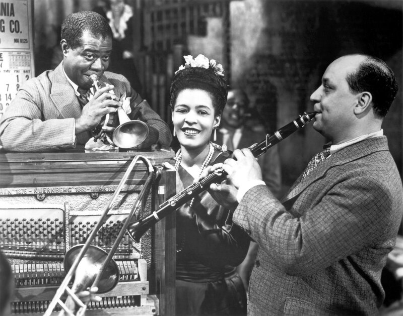 Louis Armstrong, Billie Holiday, and Barney Bigard
