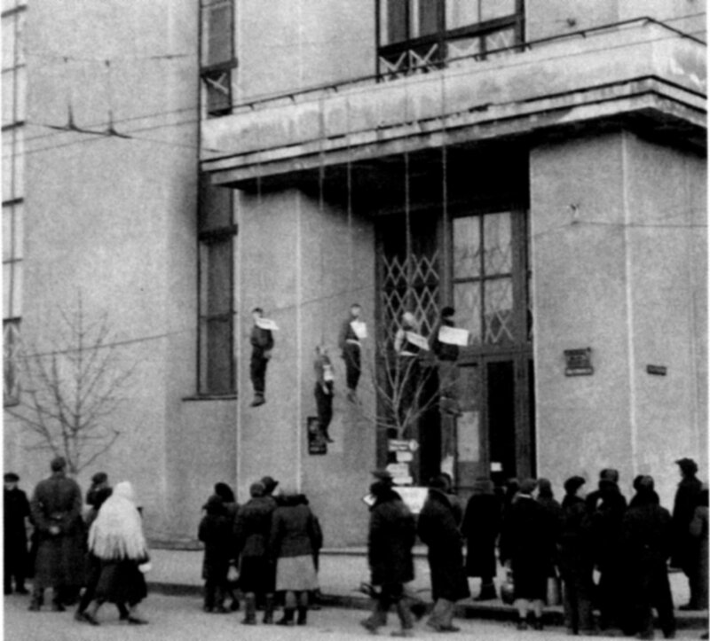 Советские граждане, повешенные немецко-фашистскими оккупантами в Харькове