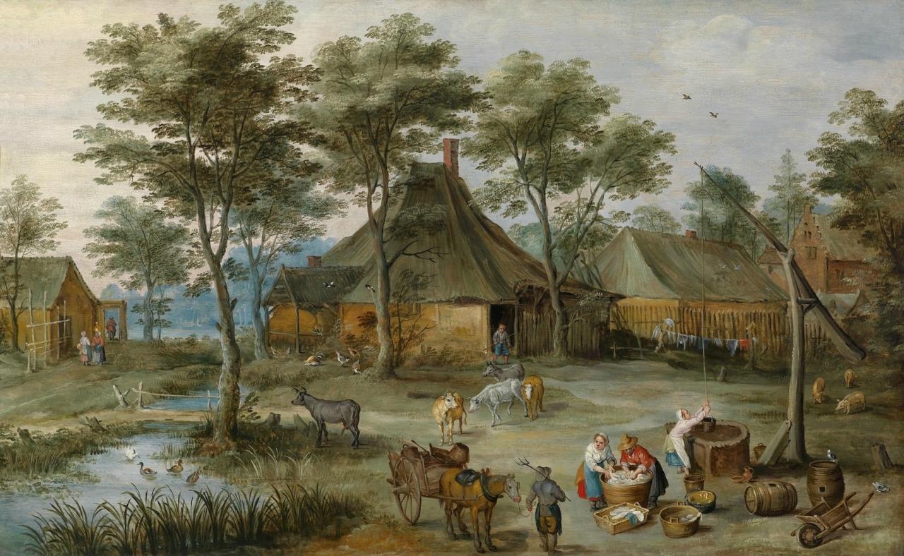 Деревенская сцена у колодца (совм с Йосом де Момпером II)_46 x 74,5_д.,м._Частное собрание.jpg