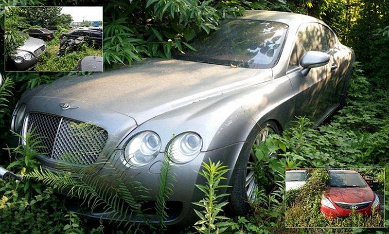 Брошенные роскошные автомобили в Китае