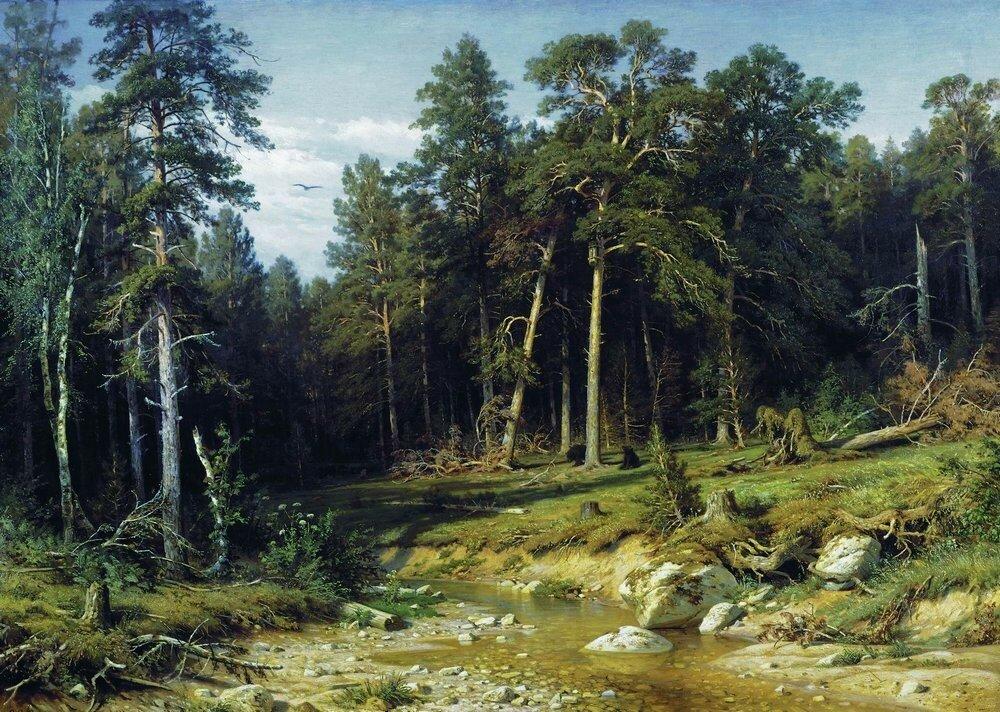 Сосновый бор.Мачтовый лес в Вятской губернии 1872 117х165.jpg