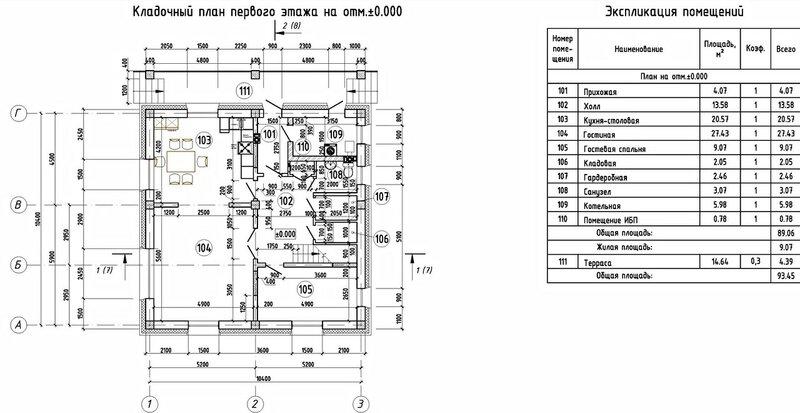 План дома, планы этажей, кладочный план