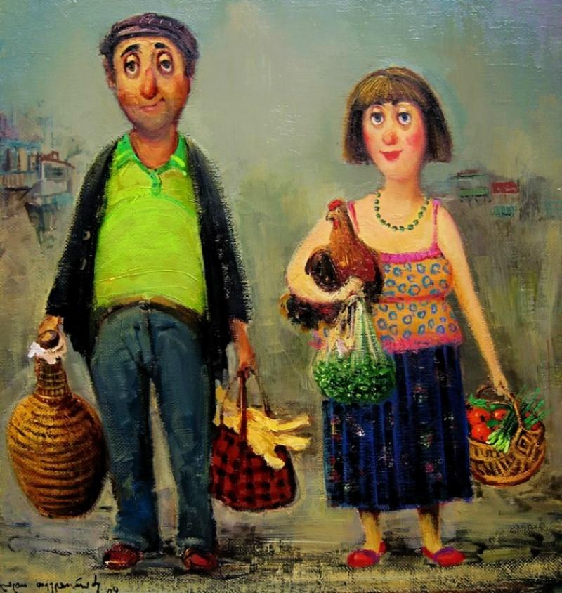 Вкартинах этого грузинского художника есть особенное тепло