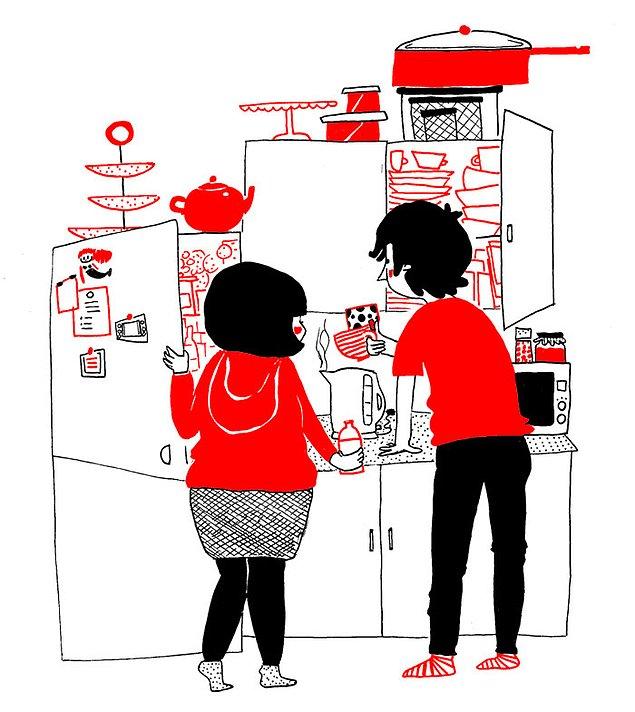 Любовь - это приготовить вместе утренний кофе
