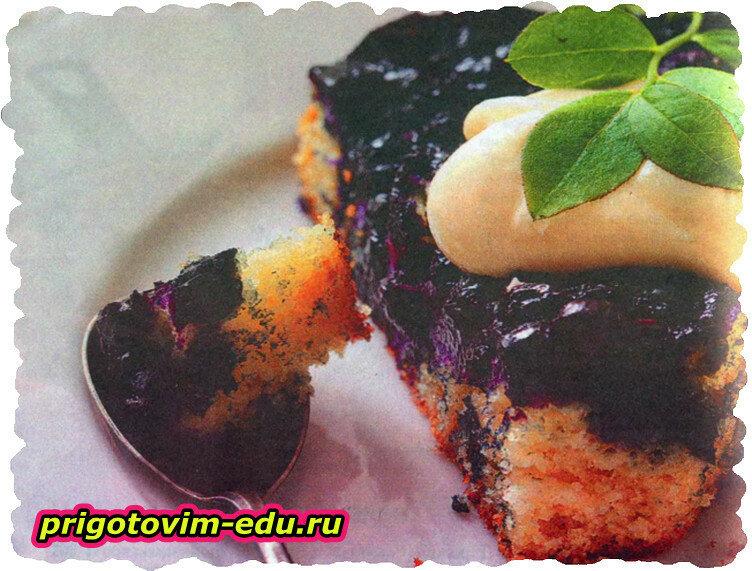 Пышный ягодный пирог