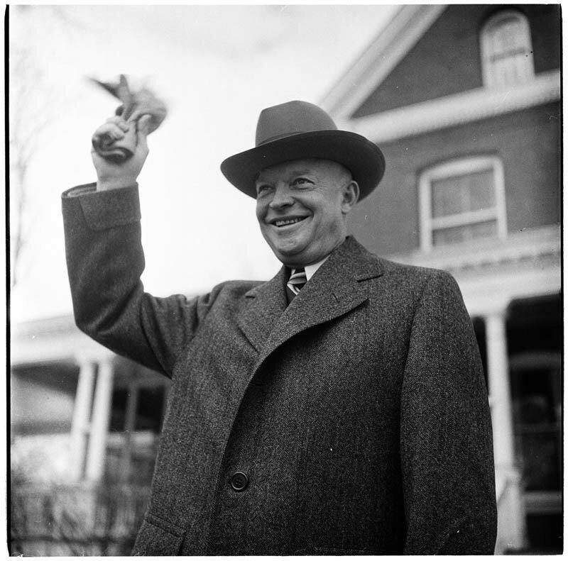 Генерал Дуайт. Д. Эйзенхауэр в Колумбийском университете, 1948 год