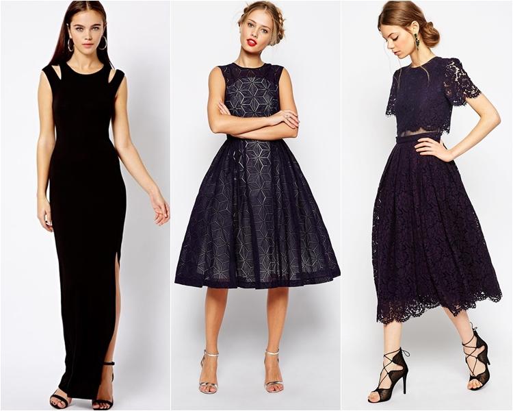 Платья черные на выпускной 2016