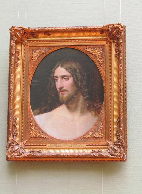 Иванов А.А.Голова Христа.1834. холст, масло. 55,4 x 44,8