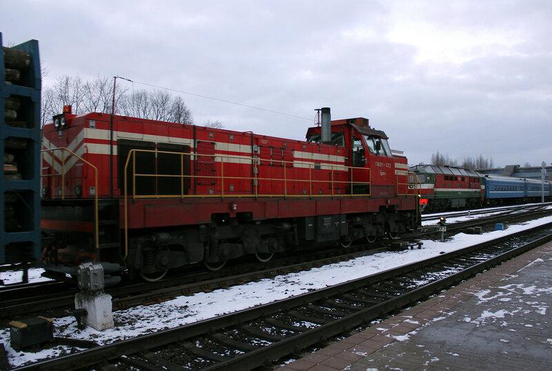 ТМЭ1-023 на станции Витебск