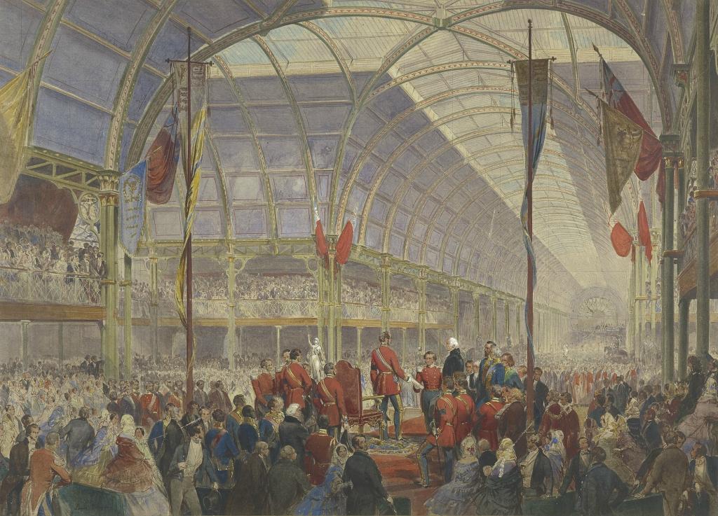 Открытие выставки художественных ценностей в Манчестере Его Королевское Высочество Принц-консорт The, 5 мая 1857