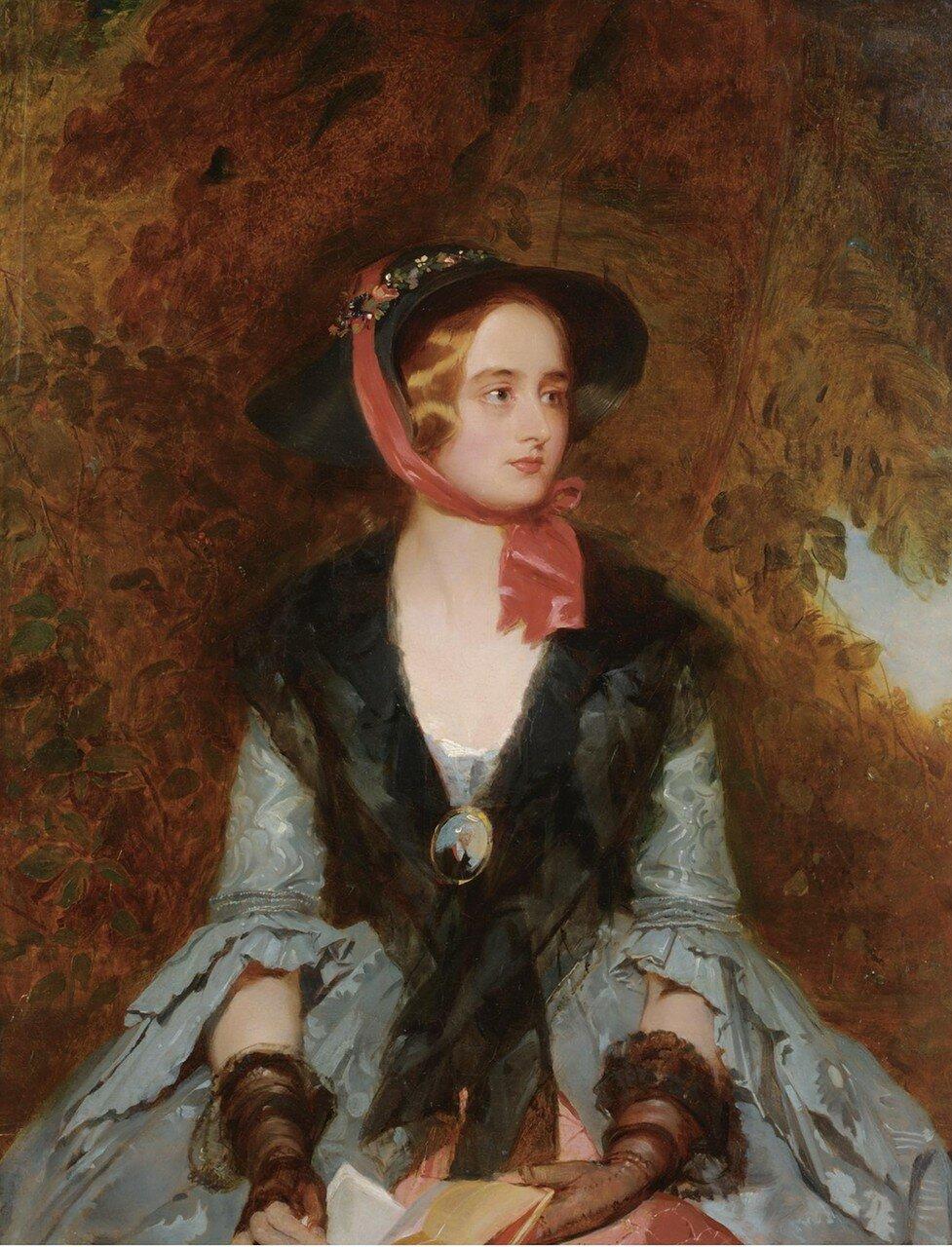 """Джон Босток 1826-1869 РОЗА Брадуардин, героиня романа Вальтера Скотта """"WAVERLEY"""""""