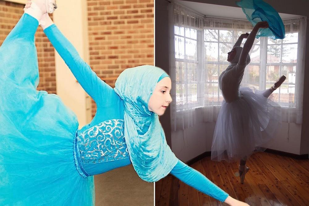 14-летняя балерина в хиджабе