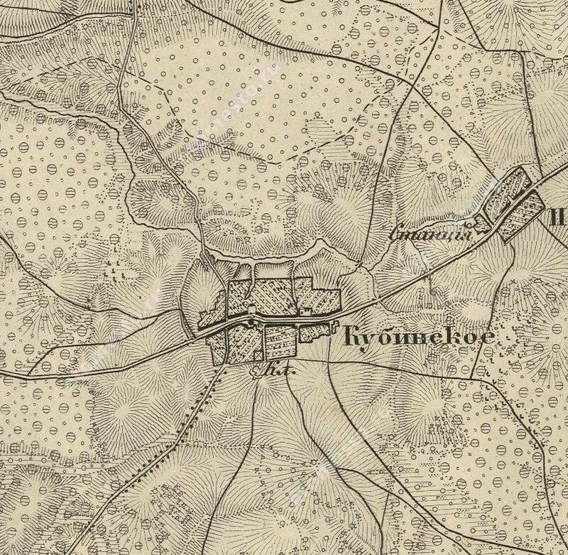 Кубинка на карте Шуберта 1860 года
