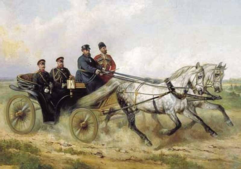 «Царь Александр III в открытом ландо»