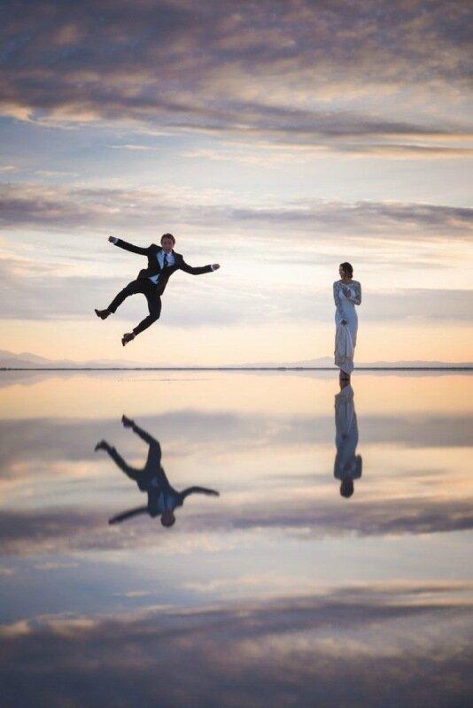 Молодожёны, гуляющие по воде. Красивая свадебная фотосессия 0 1cd5d1 459030ad XL