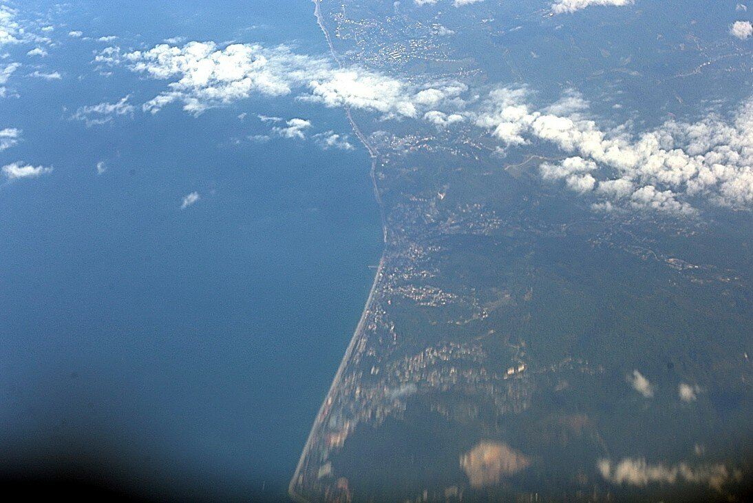 The black sea coast to the North of Topase