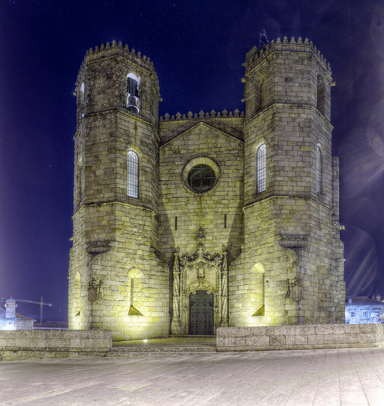 Night Guarda, Portugal. HDR photo