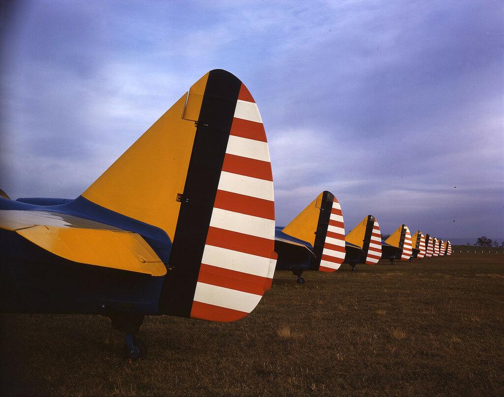 Хвосты учебных самолетов Aeronca PT-19 Cornell