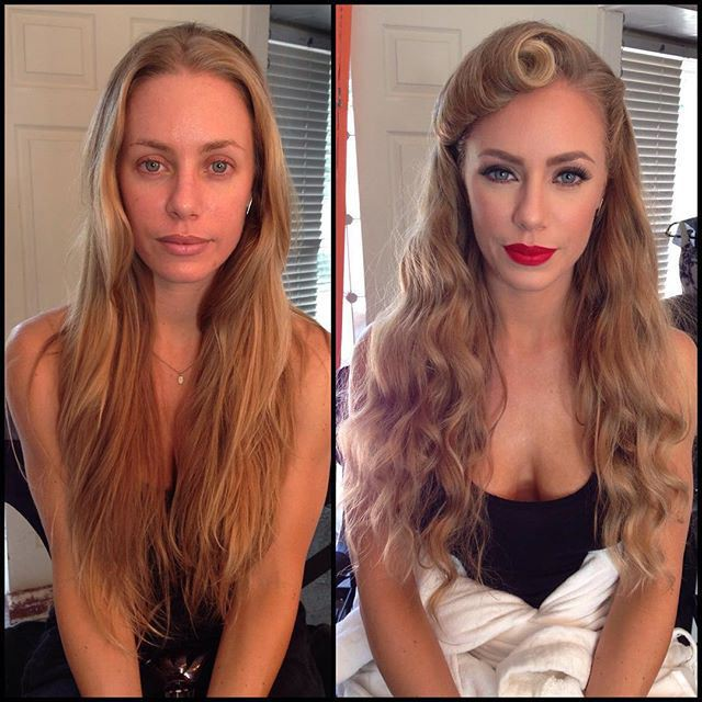 Фото известных моделей Playboy до и после макияжа