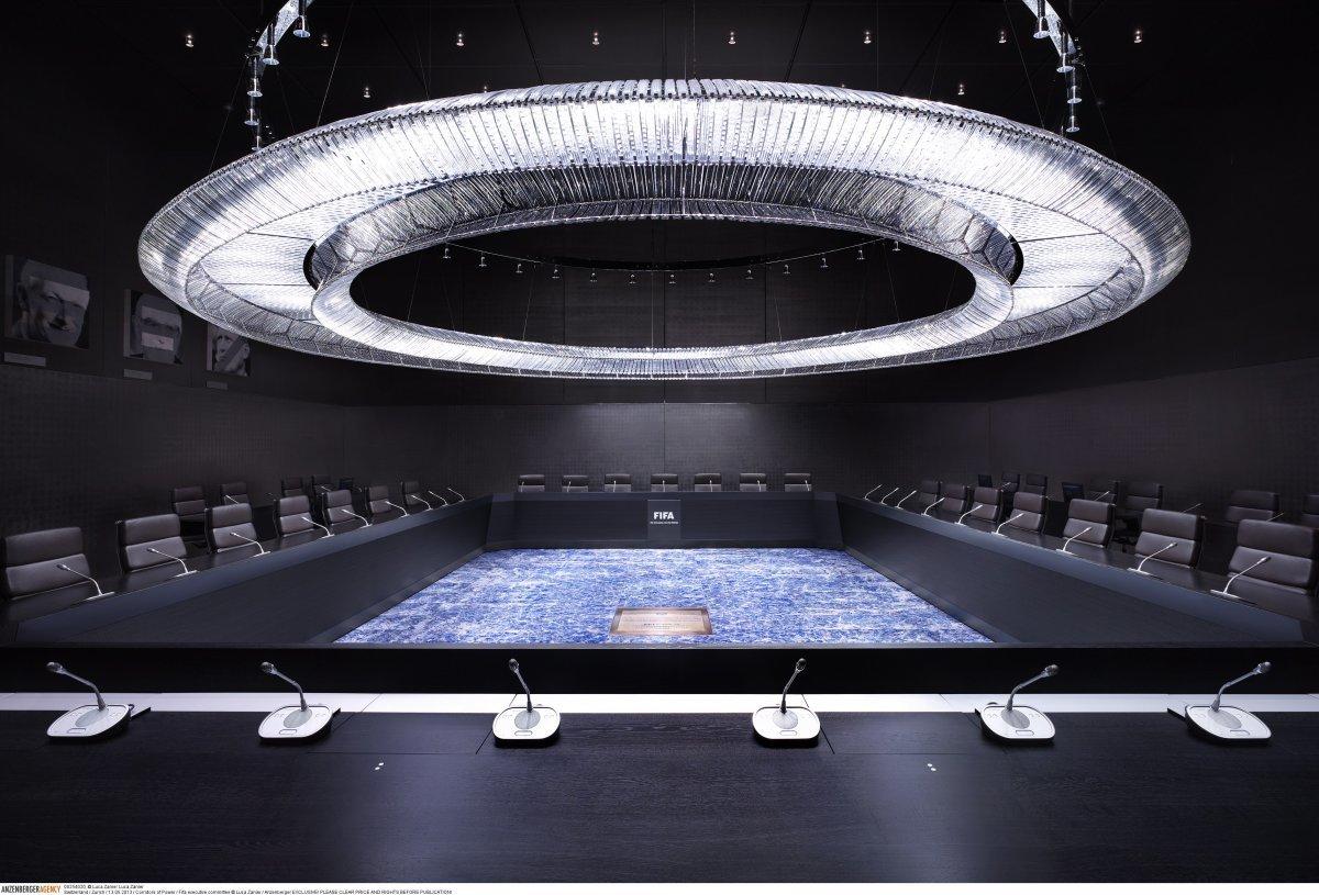 Исполнительный комитет FIFA встречается в этом помещении в Цюрихе (Швейцария).