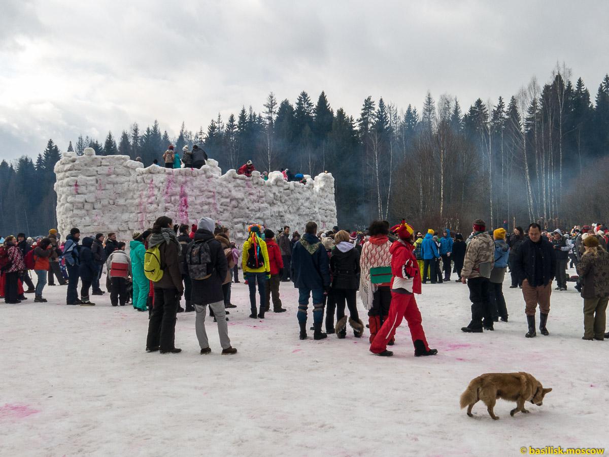 Бакшевская масленица 2016. Снежная крепость. 13 марта 2016