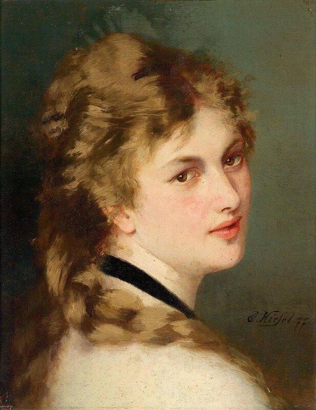 Портрет дамы с черной лентой