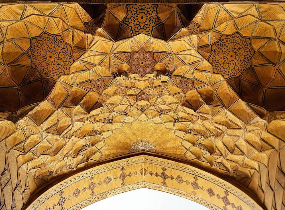 Celling of Jameh's mosque in Esfahan, Iran, 900 years old