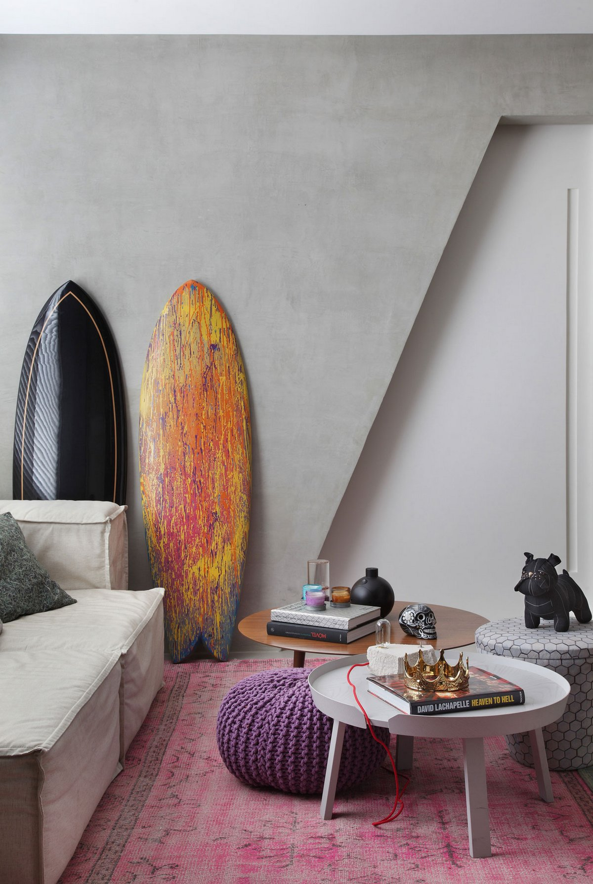 VF House, Studio ro+ca, Рио-де-Жанейро, Бразилия, квартиры в Бразилии, интерьер для молодых, молодежный интерьер фото, современный интерьер фото
