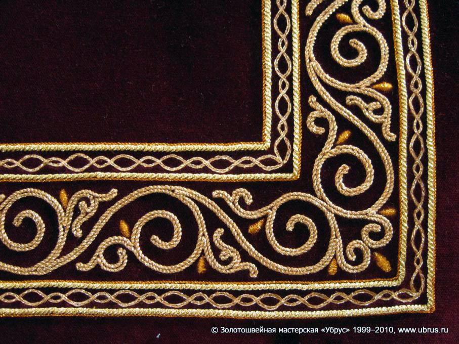 Вышивка золотом схемы 1