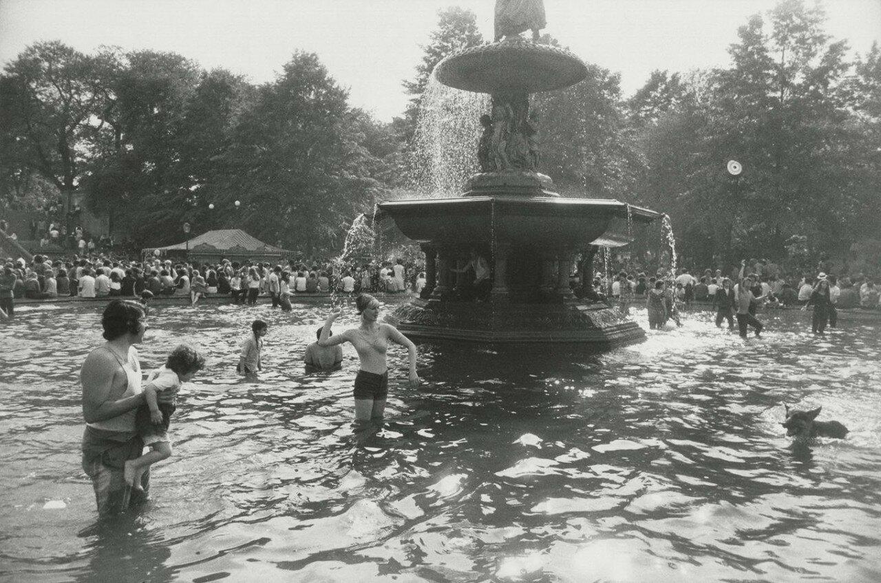 1975. Фонтан Бефезда, Центральный Парк, Нью-Йорк