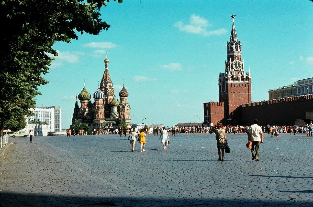Красная площадь, собор Василия Блаженного и Кремлевская стена