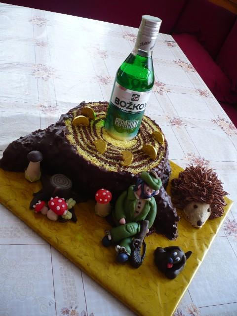Мужской 3D торт из марципана