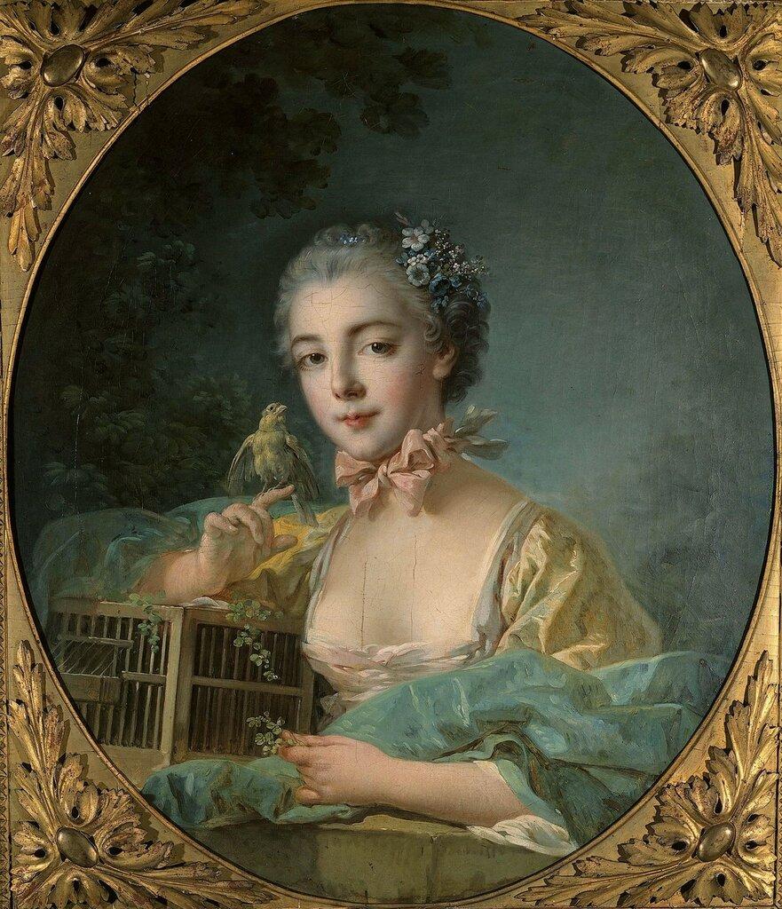 94.Портрет Мари-Эмили Бодуэн, дочери художника (ок.1760) (75 х 65) (Париж, Музей коньяк-Же).jpg