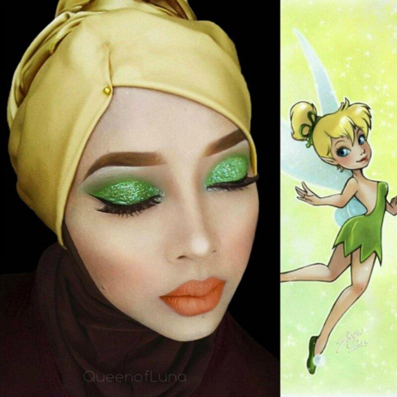 Мусульманка нарядила в хиджаб персонажей мультфильмов, комиксов и компьютерных игр