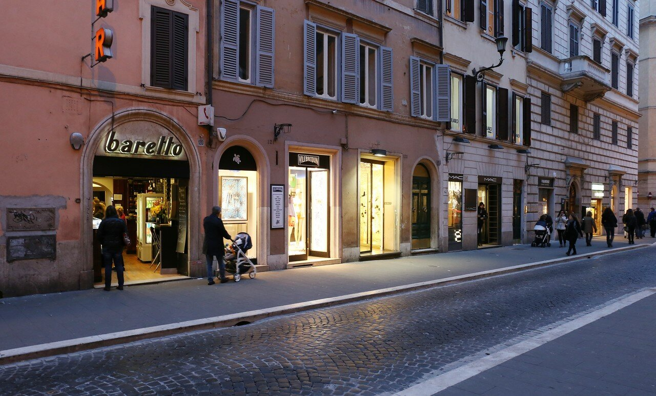 Рим. Улица Бабуино (Via del Babuino)