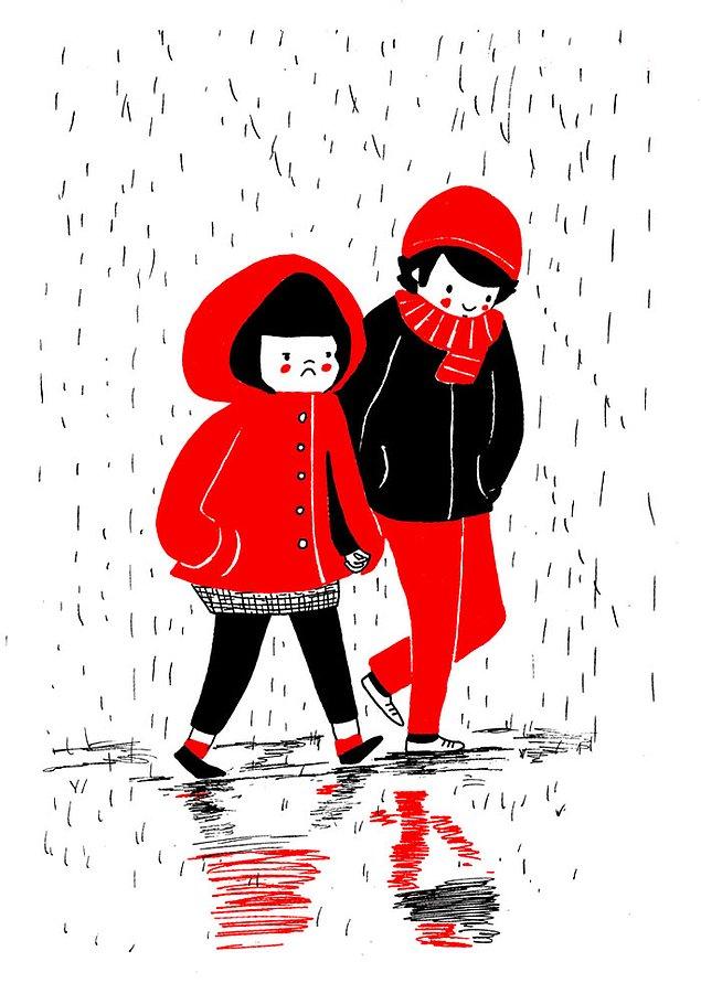 Любовь - это поддержать в трудный для неё день