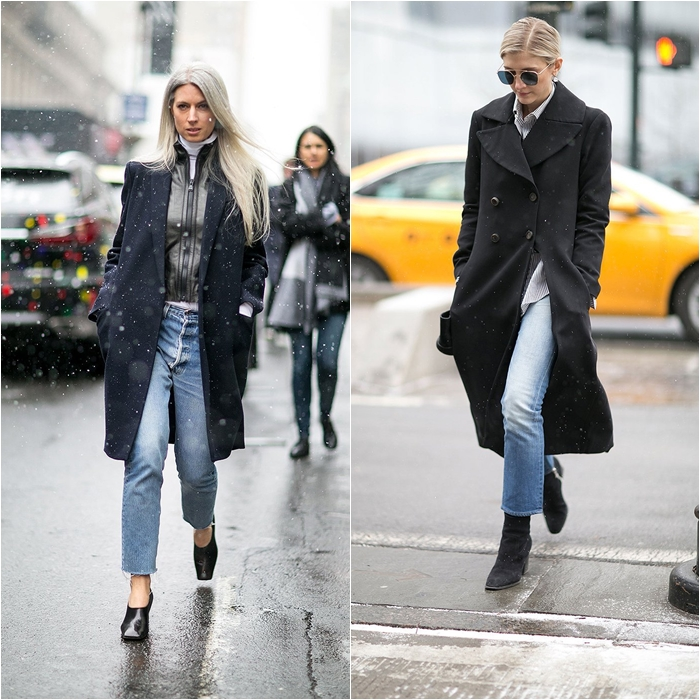 How to Wear Jeans with a Coat: Street Style picture 7