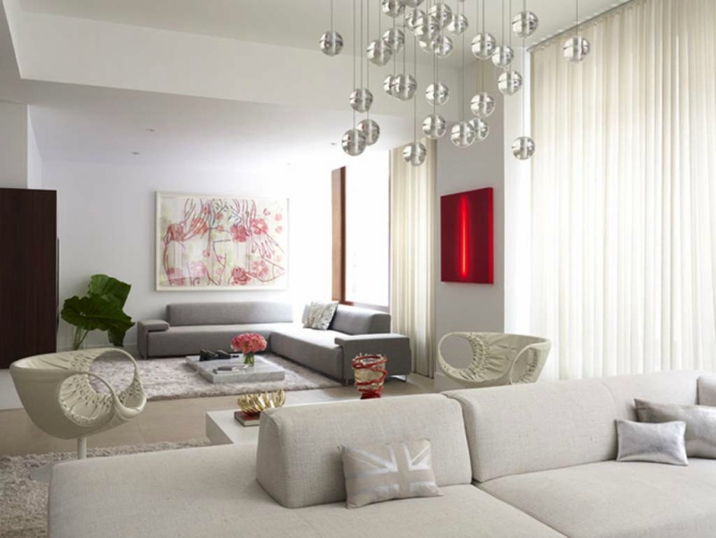 Дизайн интерьера гостиной в светлых оттенках фото 15