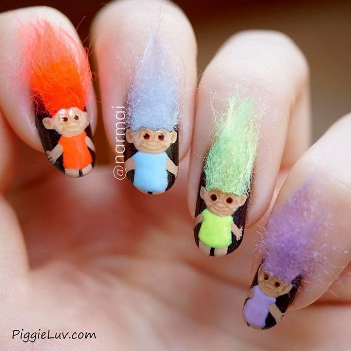 Пушистые ногти