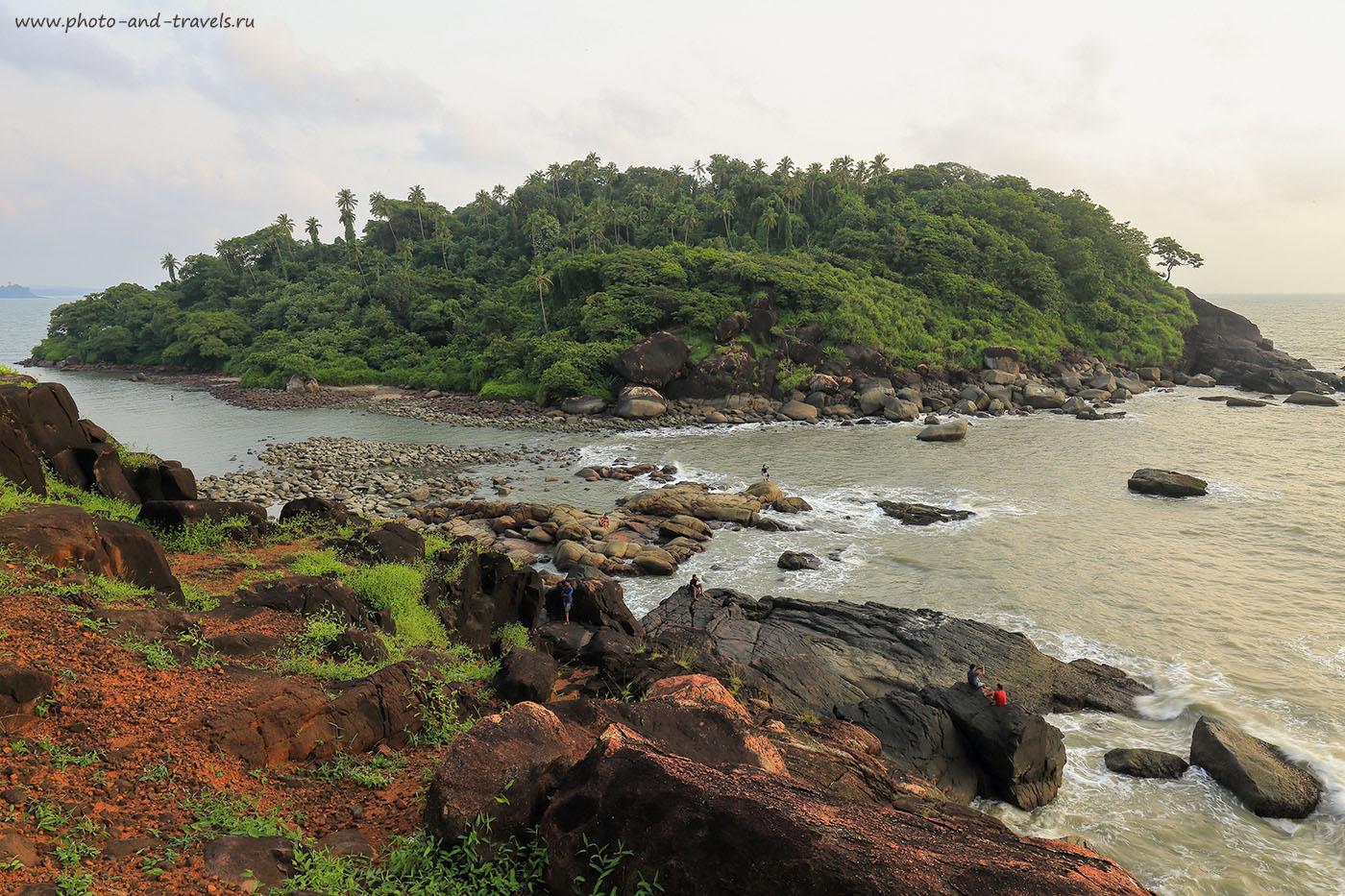 Фотография 4. Вид на остров Green Island сверху. Самостоятельная поездка на отдых в Южном Гоа в Индии (24-70, 1/6, -1eV, f22, 24 mm, ISO 100)