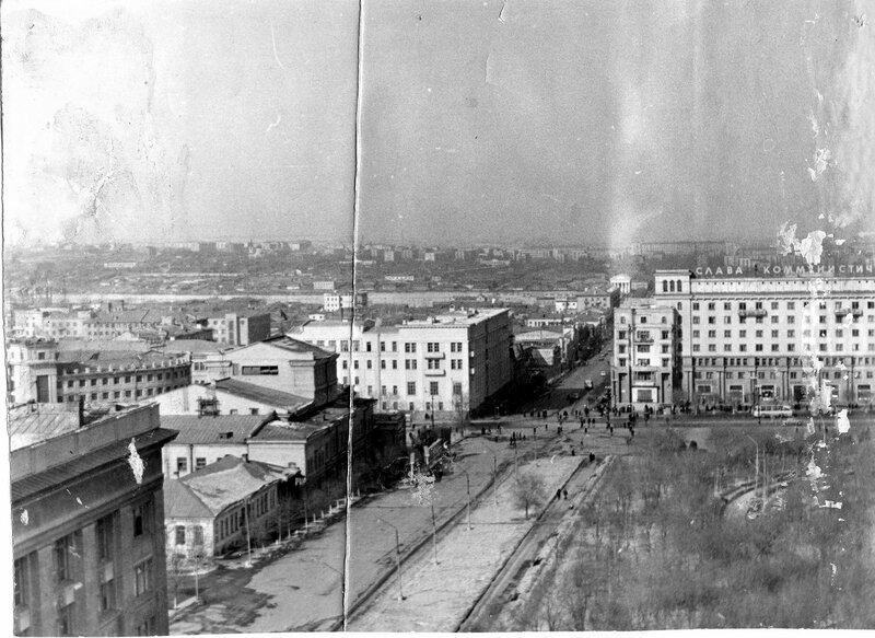 Панорама Челябинска 1967 года