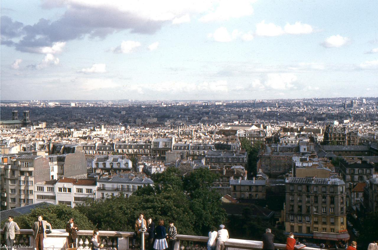 1961. Панорама с террасы базилики Сакре-Кёр на Монмартре