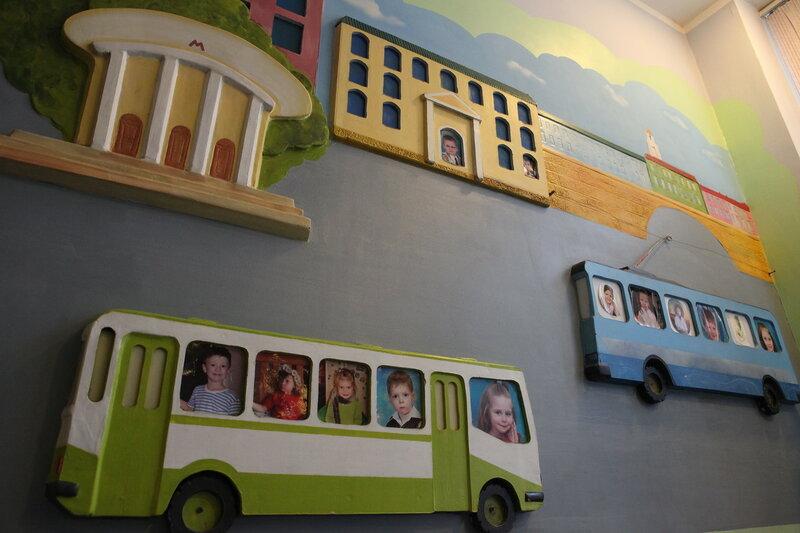 Оформление пространства примере детского сада