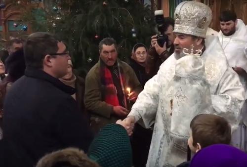Ренато Усатый встретился с епископом Маркелом в Бельцах