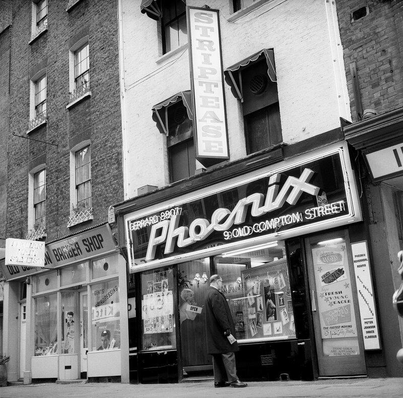 London Scenes - Soho - The Phoenix Club - 1966